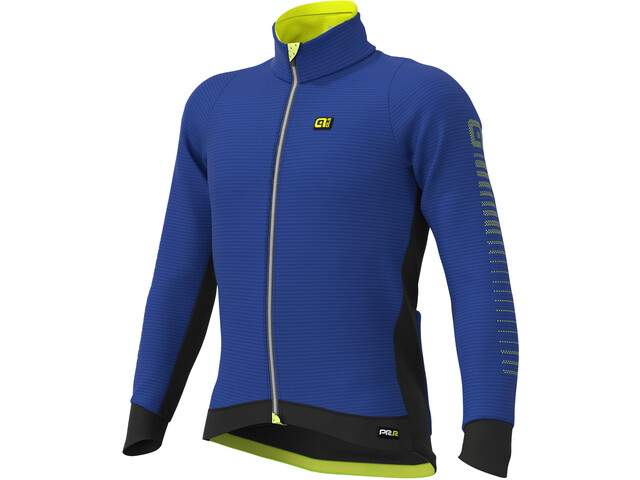 Alé Cycling Graphics PRR Thermo Road DWR Jacket Men blue light/fluo yellow